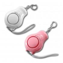 台灣製120分貝超強爆音附LED燈防身警報器(白色/粉紅色)